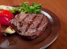 Carne grelhada - bife Imagem de Stock Royalty Free