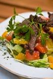 Carne grelhada com vegetais Imagens de Stock Royalty Free