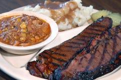 Carne grelhada do BBQ Fotos de Stock