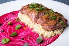 Carne grelhada do pato Fotografia de Stock