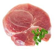 Carne grezza con prezzemolo Fotografia Stock Libera da Diritti