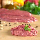 Carne grezza del manzo Immagini Stock