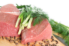 Carne grezza del manzo Fotografia Stock