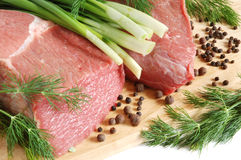 Carne grezza del manzo Fotografie Stock