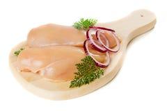 Carne grezza del pollo Fotografie Stock