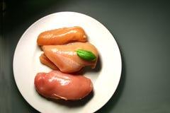 Carne grezza del pollo Fotografia Stock