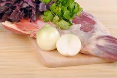 Carne grezza dell'agnello fotografie stock libere da diritti