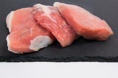 Carne grezza di porco Fotografie Stock