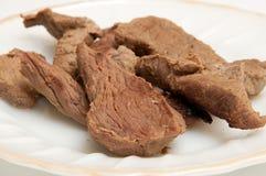 Carne hervida Fotografía de archivo