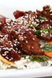 Carne japonesa de Teriyaki Fotografia de Stock