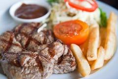 Carne jugosa de la carne de vaca del filete Fotos de archivo libres de regalías