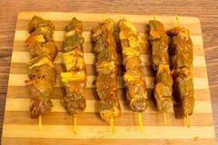 Carne Kebabs Imagens de Stock