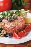 Carne a la tártara Fotografía de archivo libre de regalías