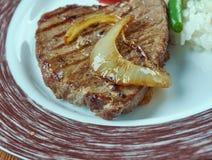 Carne la tampiquena 免版税库存图片