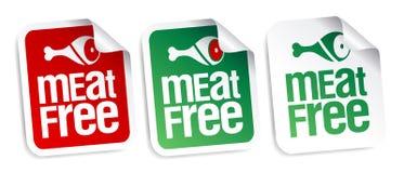 A carne livra etiquetas. Foto de Stock Royalty Free