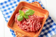 Carne macinata fresca Fotografia Stock Libera da Diritti