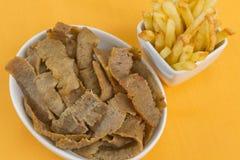 Carne & microplaquetas de Donner foto de stock
