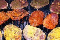 Carne na grade Fotografia de Stock Royalty Free