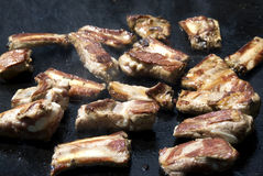 Carne no assado Foto de Stock Royalty Free