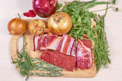 Carne no assado foto de stock