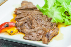 Carne no molho de Teriyaki Imagens de Stock Royalty Free