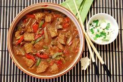 Carne no molho do feijão preto Imagens de Stock Royalty Free