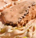 Carne no molho do tomatoe Fotografia de Stock Royalty Free