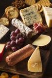 Carne operata e Cheeseboard con frutta immagini stock libere da diritti