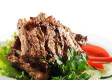 Carne (ou carne de porco) grelhada Fotografia de Stock Royalty Free