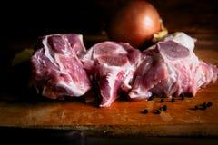 Carne para los platos de la carne fotografía de archivo