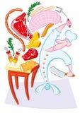 Carne pazza del briciolo del cuoco illustrazione di stock