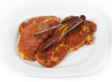 Carne per il barbecue fotografie stock libere da diritti