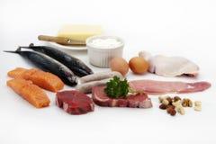 Carne, pesci, uova & pollo fotografia stock libera da diritti
