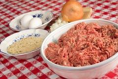 Carne picada Foto de archivo libre de regalías