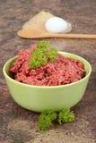 Carne picada com salsa Imagem de Stock Royalty Free