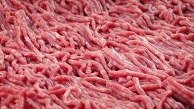Carne picada que gira lentamente video estoque