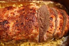 Carne picadita asada Imagenes de archivo