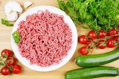 Carne picadita con las verduras Imágenes de archivo libres de regalías