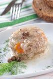 Carne picadita convertida en gelatina foto de archivo