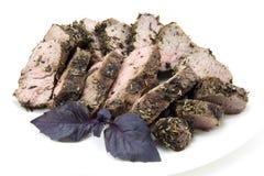 Carne picante cortada Imagens de Stock Royalty Free