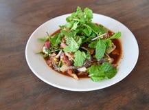 Carne piccante dell'insalata cruda Immagini Stock