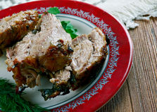 Carne Porco Assado Royaltyfri Fotografi