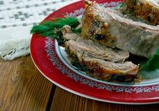 Carne Porco Assado 库存照片