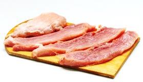 A carne, prepara refeições Fotografia de Stock