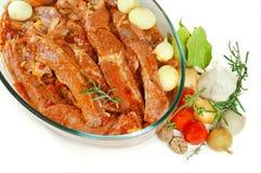 Carne pronta para roast Fotos de Stock