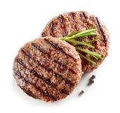 Carne recentemente grelhada do hamburguer fotografia de stock royalty free