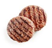 Carne recentemente grelhada do hamburguer foto de stock