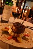 Carne redonda (carne e vinho) Imagens de Stock Royalty Free