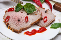 Carne Roasted Fotografia de Stock Royalty Free