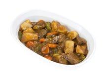Carne Roasted com os vegetais no prato do cozimento Imagens de Stock